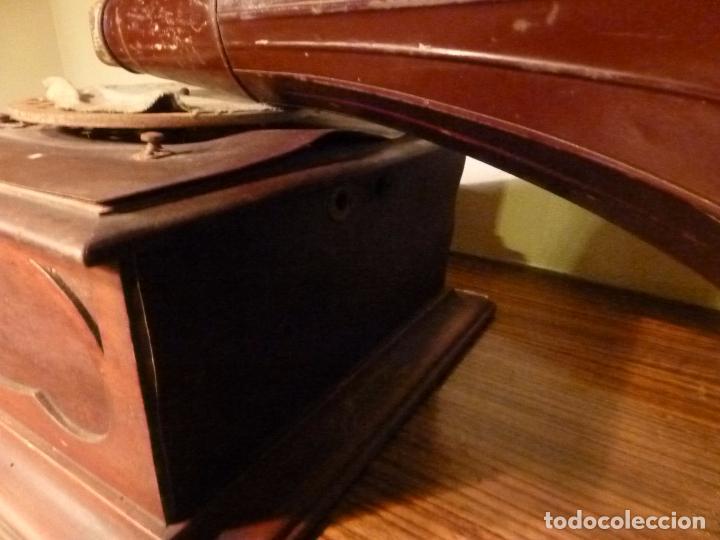 Gramófonos y gramolas: caja de gramofono con trompa - Foto 8 - 70064349