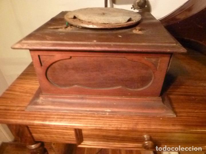 Gramófonos y gramolas: caja de gramofono con trompa - Foto 26 - 70064349