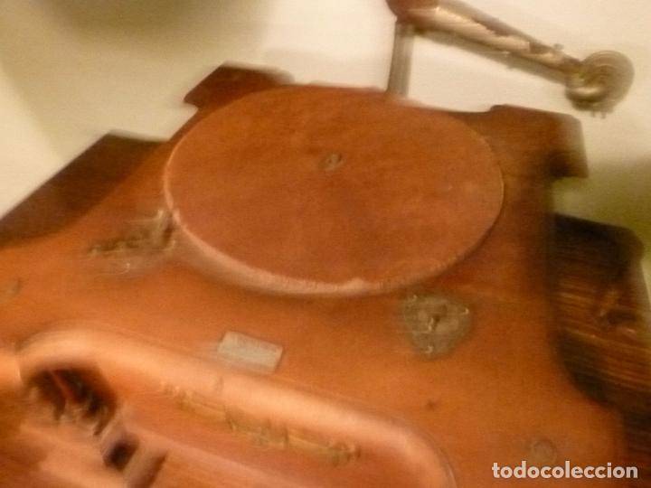 Gramófonos y gramolas: caja de gramofono con trompa - Foto 16 - 70064569