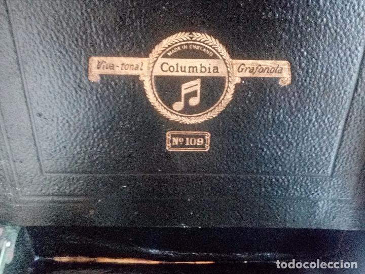 Gramófonos y gramolas: GRAMÓFONO COLUMBIA nº 109 - 3 DISCOS DE PIZARRA Y CAJA DE AGUJAS (145 ud. ). - Foto 10 - 75543195