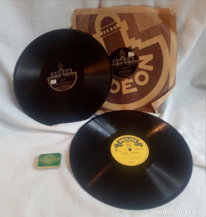 Gramófonos y gramolas: GRAMÓFONO COLUMBIA nº 109 - 3 DISCOS DE PIZARRA Y CAJA DE AGUJAS (145 ud. ). - Foto 12 - 75543195