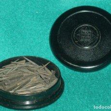 Gramófonos y gramolas: AGUJAS TELEFUNKEN - STALIT - CAJA DE BAQUELITA LLENA. Lote 77298469