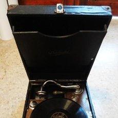 Gramófonos y gramolas: GRAMÓFONO PORTÁTIL DÉLECTA. Lote 82392268