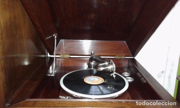 Gramófonos y gramolas: GRAMOLA MUEBLE BAR ART-DECO PRIMER CUARTO SIGLO XX - Foto 9 - 84348160