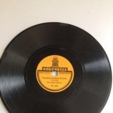 Gramophones: MINI DISCO PEQUEÑO DE PIZARRA 78 RPM PARA GRAMÓFONO DE NIÑOS O PETER PAN .ODEONETTE.15 CM. Lote 84603024