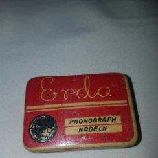 Gramófonos y gramolas: CAJA DE AGUJAS. ERDA. PHONOGRAPH NADELN. . Lote 84685844