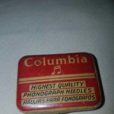 Gramófonos y gramolas: CAJA DE AGUJAS PARA FONOGRAFOS. COLUMBIA.. Lote 84686718