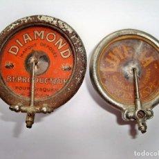 Gramófonos y gramolas: DOS ANTIGUOS REPRODUCTORES DIAMOND Y LUTETIA PARA AGUJA DE ZAFIRO. Lote 88196200