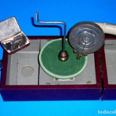 Gramófonos y gramolas: GRAMÓFONO FONÓGRAFO CURSOS FONOBILINGÜES CCC + CAJA AGUJAS PUNTAS, ORIGINAL AÑOS 30-40.. Lote 96400739