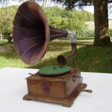 Gramófonos y gramolas: PRECIOSO Y RARO GRAMOFONO CABEZA DE LECTURA PATHE FUNCIONANDO CON AGUJA DE ZAFIRO ORIGINAL,MUSEO. Lote 99485407
