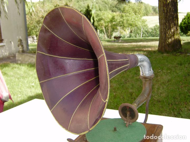 Gramófonos y gramolas: PRECIOSO Y RARO GRAMOFONO CABEZA DE LECTURA PATHE FUNCIONANDO CON AGUJA ZAFIRO ORIGINAL,MUSEO 791€ - Foto 4 - 99485407