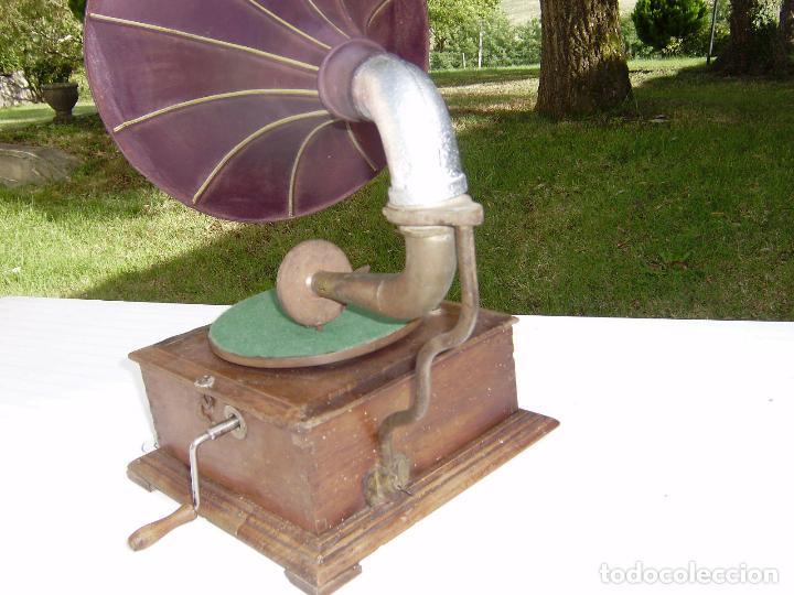 Gramófonos y gramolas: PRECIOSO Y RARO GRAMOFONO CABEZA DE LECTURA PATHE FUNCIONANDO CON AGUJA ZAFIRO ORIGINAL,MUSEO 791€ - Foto 5 - 99485407