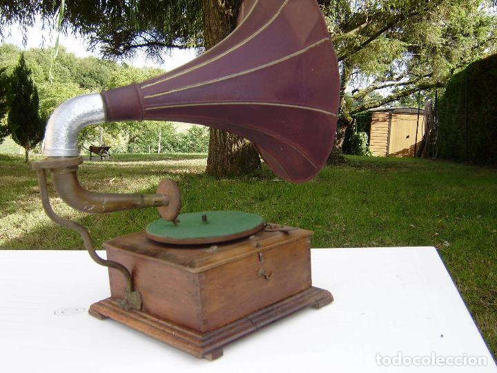 Gramófonos y gramolas: PRECIOSO Y RARO GRAMOFONO CABEZA DE LECTURA PATHE FUNCIONANDO CON AGUJA ZAFIRO ORIGINAL,MUSEO 791€ - Foto 7 - 99485407