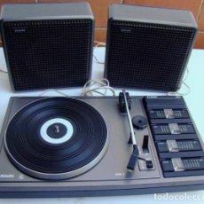Gramófonos y gramolas: TOCADISCOS PHILIPS AF400 CON ALTAVOCES. Lote 103745271