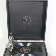 Gramófonos y gramolas: ANTIGUA GRAMOLA GRAMOFONO MADE IN SWITZWERLAND MARCA EXPOSITION FUNCIONANDO AÑOS 40. Lote 103788139