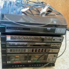 Gramófonos y gramolas: EQUIPO SONY ( TOCADISCOS,RADIO Y CASETTE ). Lote 103820451