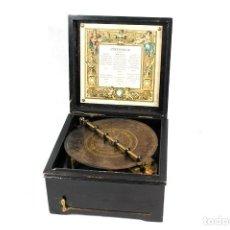 Gramófonos y gramolas: ANTIGUA CAJA DE MUSICA SYPHONIUM -DE GRAN TAMAÑO-INCLUYE DISCO-. Lote 104046635