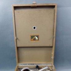 Gramófonos y gramolas: GRAMÓFONO MALETA HIS MASTERS VOICE GRAMOPHONE COMPANY LTD HAYES MIDDLESEX AÑOS 20 FUNCIONA. Lote 104789387