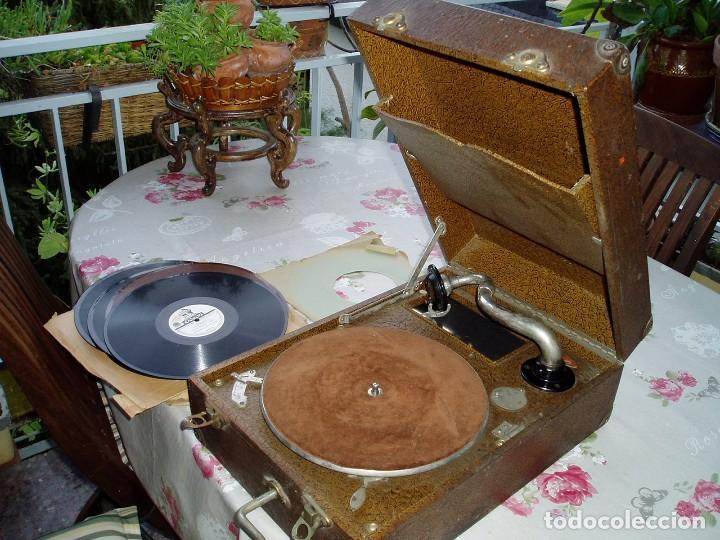 Gramófonos y gramolas: Gramófono Principios S. XX - Foto 3 - 105803331