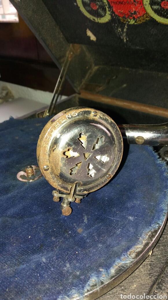Gramófonos y gramolas: Gramofono portatil VICTORIA con mecanismo thorens - Foto 7 - 108300006