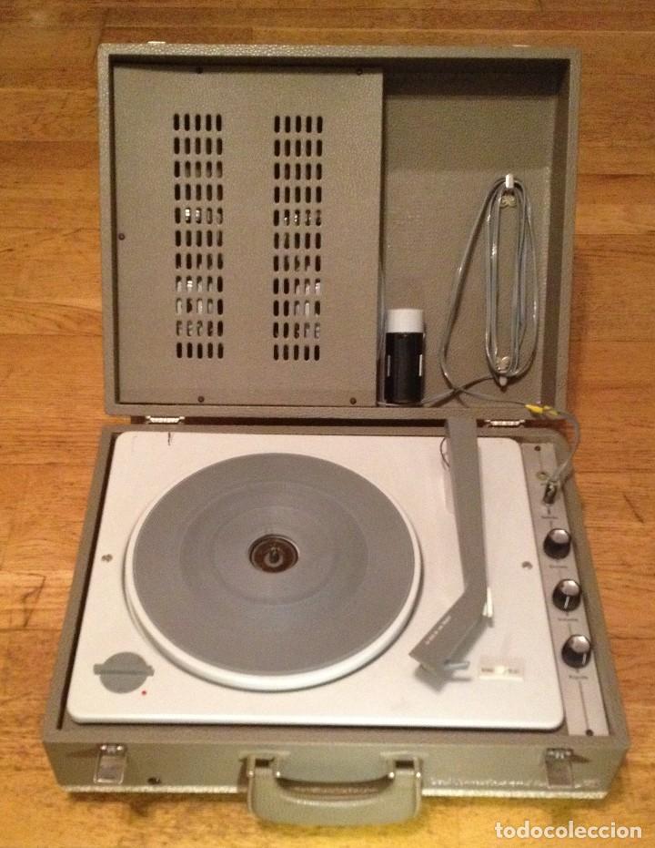 MALETA TOCADISCOS : LA VOIX DE SON MAITRE+ 60'S + (Radios, Gramófonos, Grabadoras y Otros - Gramófonos y Gramolas)