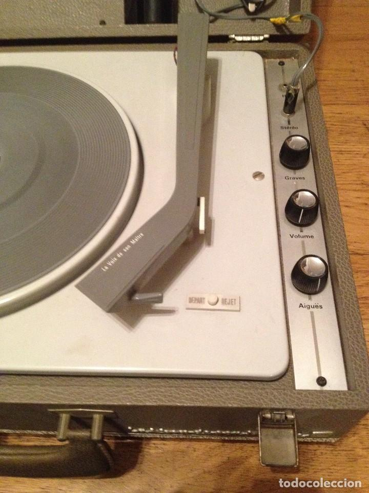 Gramófonos y gramolas: MALETA TOCADISCOS : LA VOIX DE SON MAITRE+ 60'S + - Foto 5 - 109289303