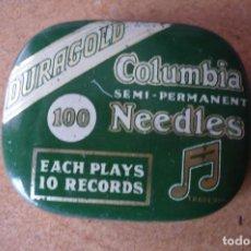 Gramófonos y gramolas: CAJA AGUJAS PARA GRAMOLA MARCA COLUMBIA. Lote 112444639