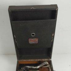 Gramófonos y gramolas: GRAMÓFONO PORTATIL. MERMOD. MAQUINARIA THORENS. SUIZA. 1920. Lote 114328059