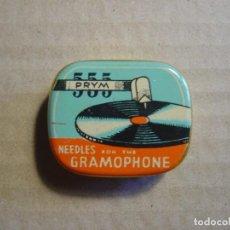 Gramófonos y gramolas: CAJA DE AGUJAS PARA GRAMOFONOS PRYM. Lote 115013391