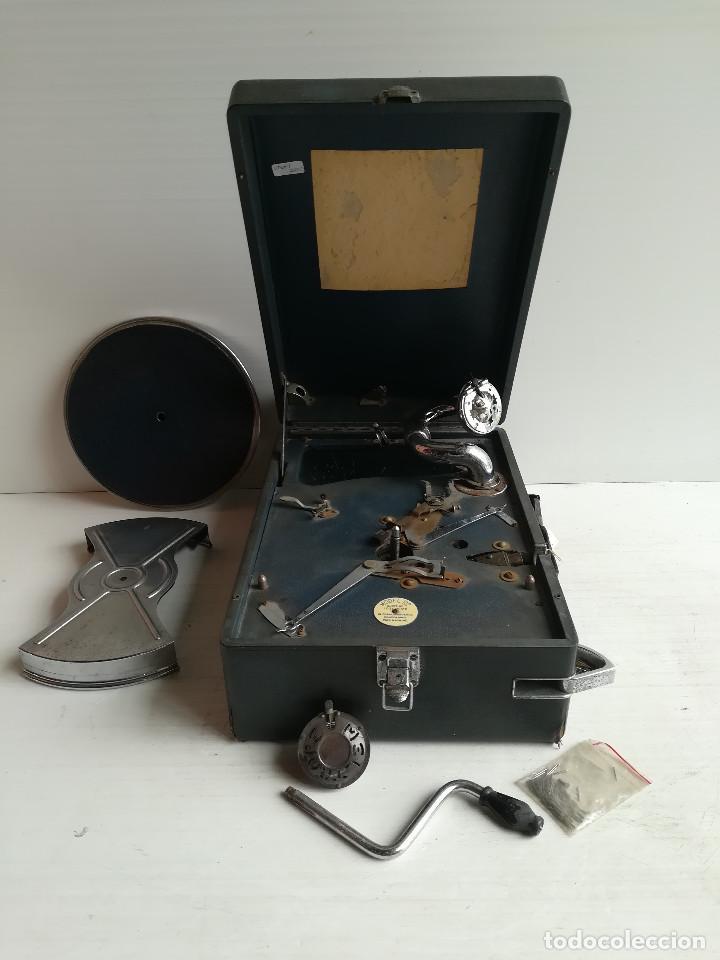 Gramófonos y gramolas: TOCADISCOS -DECA- DE MALETA, CERCA DE 1.930 - Foto 4 - 116443795