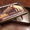 Gramófonos y gramolas: ANTIGUA CAJA METÁLICA HIS MASTER'S VOICE. LA VOZ DE SU AMO. GRAMÓFONO. MADE IN ENGLAND. Lote 117865787