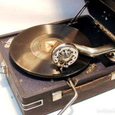Gramófonos y gramolas: GRAMOLA DE MALETA - BUEN ESTADO .....FUNCIONA... Lote 119015347