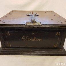 Gramófonos y gramolas: ARISTON CON TRES DISCOS. TIPO DE ORGANILLO DE FINALES DEL SIGLO XIX. Lote 119488615