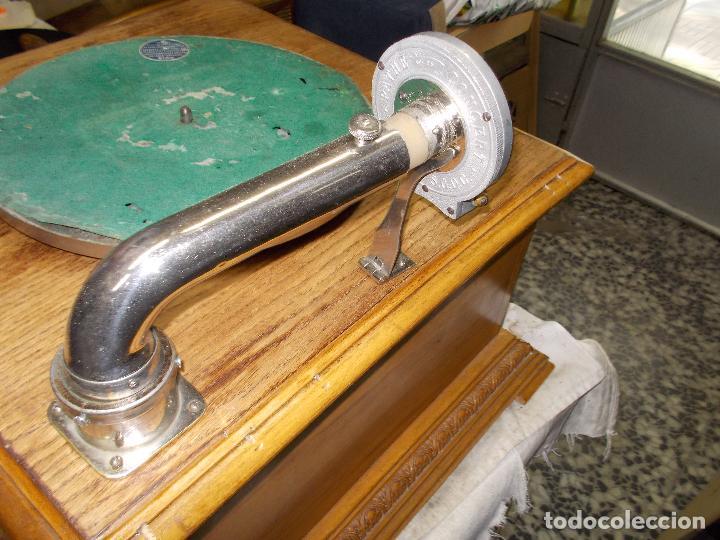 Gramófonos y gramolas: Gramofono Pathephone Nº 30 funcionando - Foto 21 - 121064775