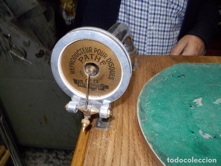 Gramófonos y gramolas: Gramofono Pathephone Nº 30 funcionando - Foto 22 - 121064775