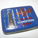 Gramófonos y gramolas: ANTIGUA CAJITA LITROGRAFIADA DE AGUJAS DE GRAMOFONO.. Lote 122986619
