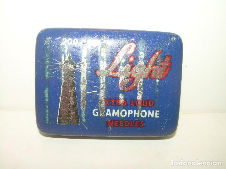 Gramófonos y gramolas: ANTIGUA CAJITA LITROGRAFIADA DE AGUJAS DE GRAMOFONO. - Foto 2 - 122986619