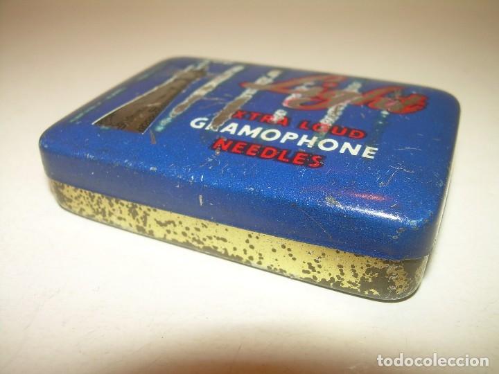 Gramófonos y gramolas: ANTIGUA CAJITA LITROGRAFIADA DE AGUJAS DE GRAMOFONO. - Foto 4 - 122986619