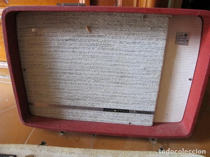 Gramófonos y gramolas: Radio tocadiscos maleta marca cosmo para piezas - Foto 4 - 130104995