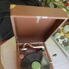Gramófonos y gramolas: ANTIGUO GRAMOFONO GRAMOLA, CABEZA ' PAILLARD ' FUNCIONANDO, EXCELENTE, MINIMAS SEÑALES USO + INFO. Lote 130858312