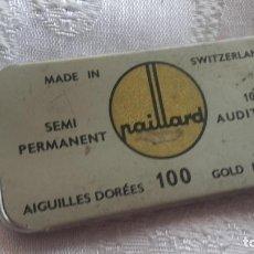 Gramófonos y gramolas: CAJA AGUJA PAILLARD. Lote 131267403