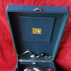 Gramófonos y gramolas: GRAMOFONO HIS MASTER VOICE MOD. 102 AZUL, EN FUNCIONAMIENTO, VER DESCRIPCION Y VIDEO. Lote 131990618