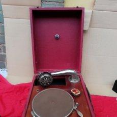 Gramófonos y gramolas: ESPECTACULAR GRAMOLA DE MANIVELA SIGLO XIX. Lote 136651100
