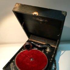 Gramófonos y gramolas: GRAMÓFONO GRAMOLA ELITE, PRINCIPIOS DEL SIGLO XX. FUNCIONA. GRAMOLA DE MALETA.. Lote 137298104