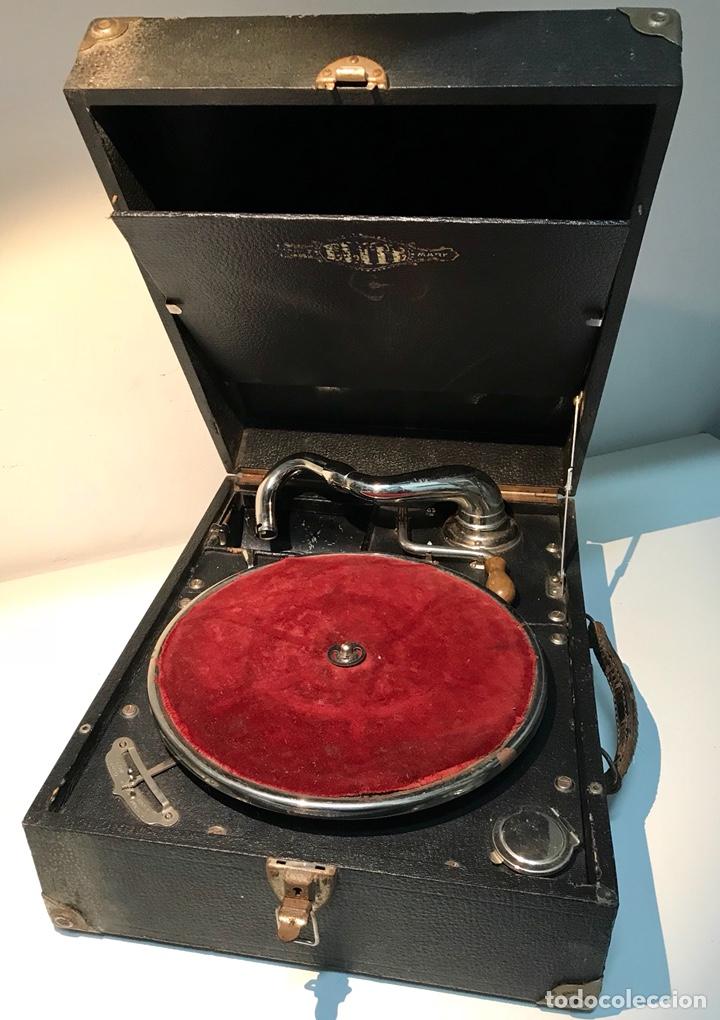 Gramófonos y gramolas: Gramófono gramola Elite, principios del siglo XX. Funciona. Gramola de maleta. - Foto 5 - 137298104