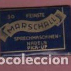 Phonographes: SOBRE DE COLECCIÓN - AGUJAS D GRAMÓFONO MARCA MARSCHALL 50 FEINSTE NADELN PICK-UP SIN ABRIR. Lote 142562462