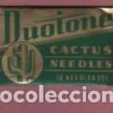 Gramófonos y gramolas: SOBRE DE COLECCIÓN ESPECIAL AGUJA CACTUS MADERA MARCA SUOTONE 12 NEEDLES - 35 MADE IN USA . Lote 142563198