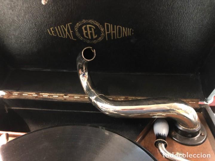 Gramófonos y gramolas: Gramófono EPL LE LUXE PHONIC de MALETA Principios s. XX FUNCIONA - Foto 4 - 143047762