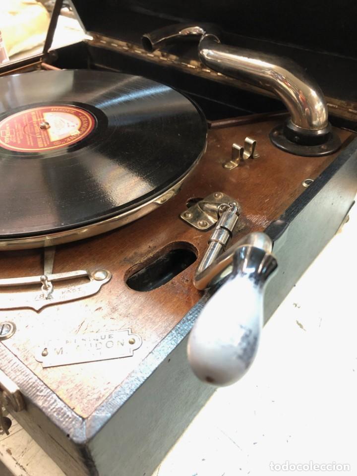 Gramófonos y gramolas: Gramófono EPL LE LUXE PHONIC de MALETA Principios s. XX FUNCIONA - Foto 7 - 143047762