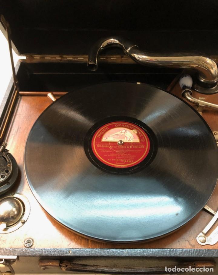 Gramófonos y gramolas: Gramófono EPL LE LUXE PHONIC de MALETA Principios s. XX FUNCIONA - Foto 18 - 143047762